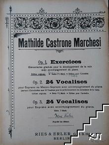 Mathilde Castrone Marchesi. Op. 1-3