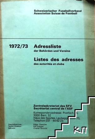 Adressliste 1972-1973