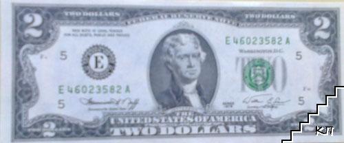 2 долара / САЩ. Комплект от пет банкноти