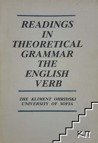 Reading in Theoretical Grammar. The English verb
