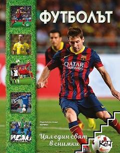 Футболът + плакат на Кристиано Роналдо