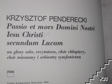 Passio Et Mors Domini Nostri Iesu Christi Secundum Lucam (Допълнителна снимка 1)