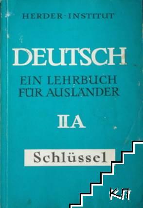 Deutsch. Ein Lehrbuch für Ausländer. Teil 2: Schlüssel