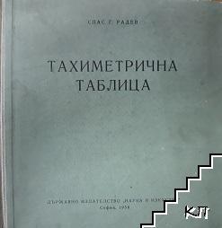 Тахиметрична таблица