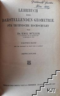 Lehrbuch der darstellenden Geometrie für Technische Hochschulen
