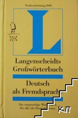 Langenscheidts Großwörterbuch. Deutsch als Fremdsprache