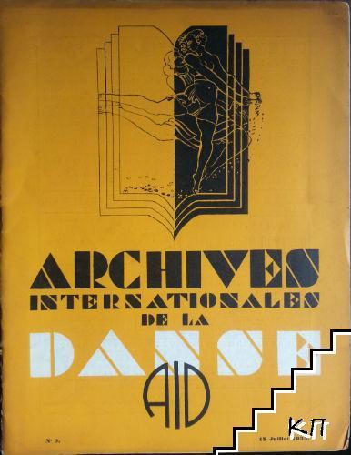 Archives internationales de la danse. № 3 / 1934
