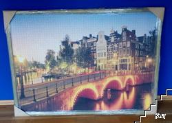 Амстердам / Amsterdam. Пъзел в рамка. 3000 елемента