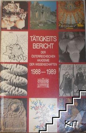 Tätigkeitsbericht der Österreichischen Akademie der Wissenschaften 1988-1989