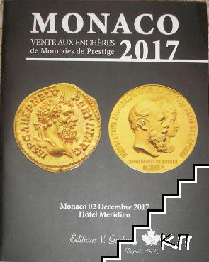 Monaco 2017. Vente aux enchères de monnaies de prestige