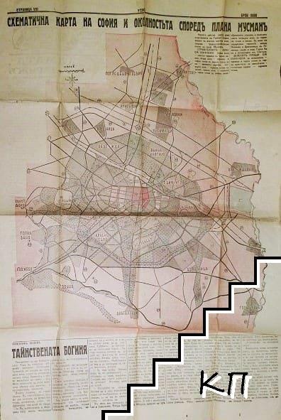 Схематична карта на София и околностьта споредъ плана на проф. Мусманъ