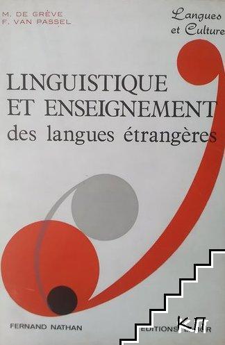 Linguistique et enseignement des langues étrangéres