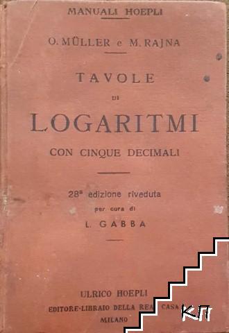 Tavole di logaritmi con cinque decimali