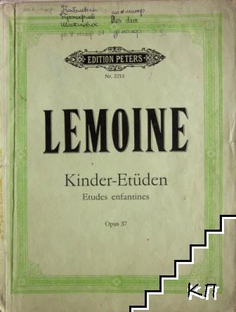 Kinder-Etüden. Op. 37: Études enfantines