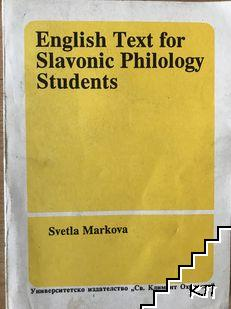 English text for Slavonic philology students