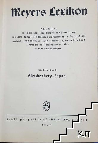 Meyers Lexikon. Band 5: Gleichenberg - Japan