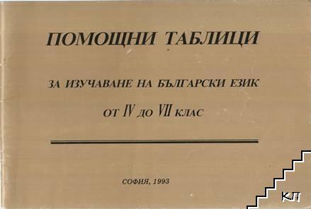 Помощни таблици за изучаване на български език за 4.-7. клас