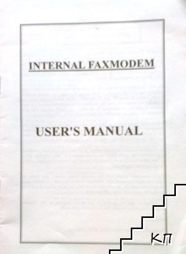 Internal faxmodem. User's manual