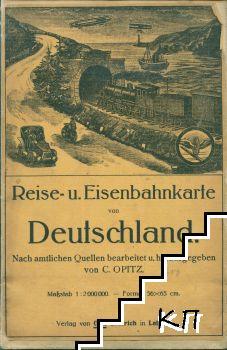Reise-u. Eisenbahnkarte von Deutschland