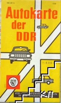 Autokarte der DDR