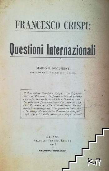 Questioni Internazionali. Diario e documenti