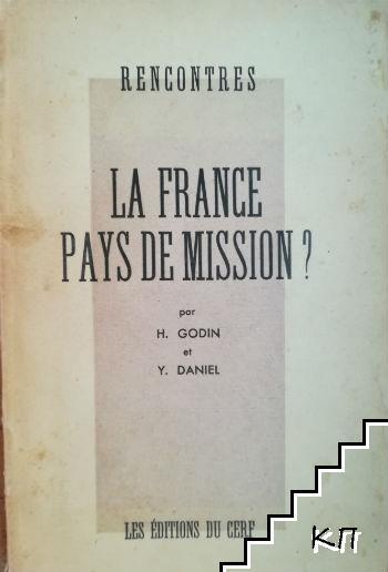 Rencontres La France pays de mission?