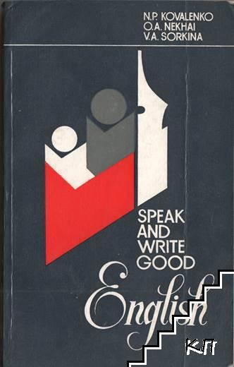 Speak and Write Good English