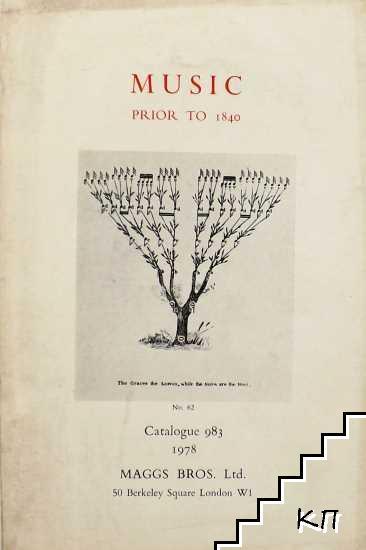 Music prior to 1840. Catalogue 983