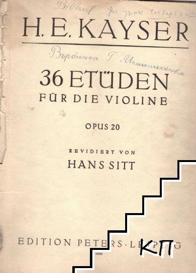 36 etüden für die violine