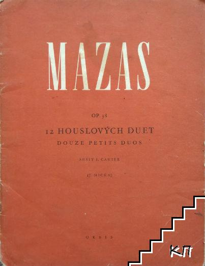 12 Houslových duet. Op. 38