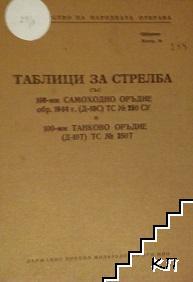 Таблици за стрелба със 100-мм самоходно оръдие обр. 1944 г. (Д-10С) ТС 250 СУ и 100-мм танково оръдие (Д-10Т) ТС 250Т