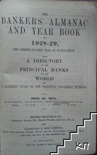 The Bankers' Almanac and Yearbook for 1928-1929