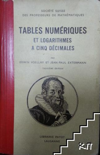 Logarithmes à cinq décimales et tables numériques