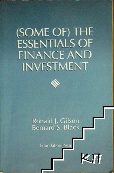 The Essentials of Finance and Investment