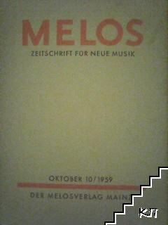 Melos: Zeitschrift für neue Musik. № 10 / 1959