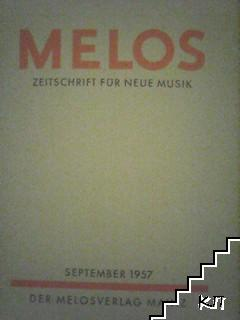 Melos: Zeitschrift für neue Musik. September / 1957