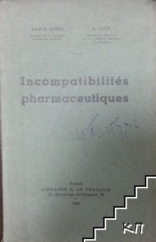 Incompatibilités pharmaceutiques