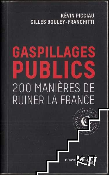 Gaspillage public: 200 manières de ruiner la France