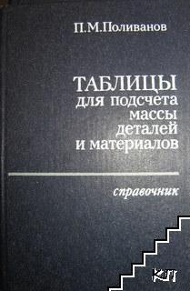 Таблицы для подсчета массы деталей и материалов
