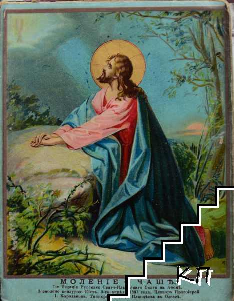 Страданието, смъртьта и въскресението на господа нашего Иисуса Христа, описани на кратко споредъ разказите на евангелистите и пояснени съ 14 цветни лакирани изображения (Допълнителна снимка 2)