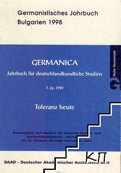 Germanica. Germanistisches Jahrbuch für deutschlandkundliche Studien