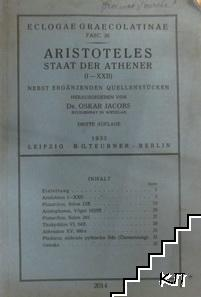 Staat der Athener (I-XXII)