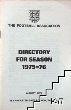 Directory for season 1975-76