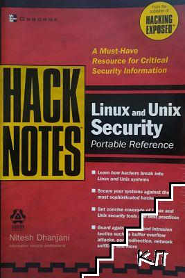 Hacknotes. Linux and Unix Security. Portable Reference