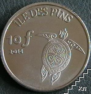 10 франка / 2014 / остров Ил де Пин