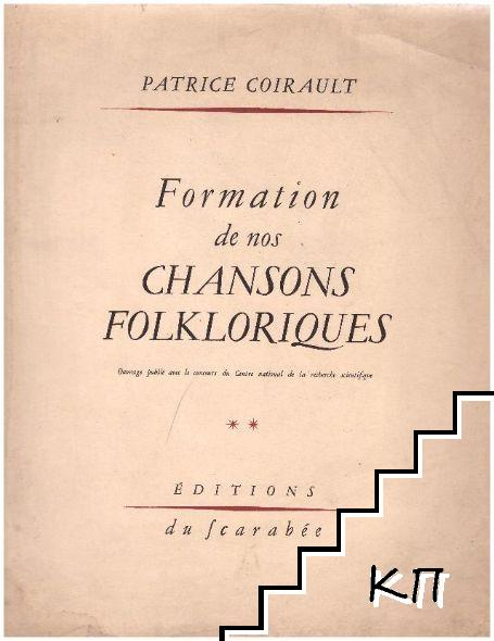 Formation de nos chansons folkloriques