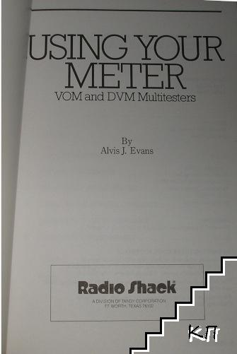 Using Your Meter: VOM and DVM Multitesters