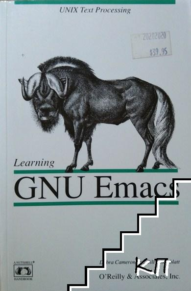 Learning. GNU Emacs