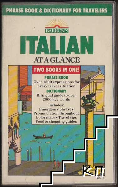Italian at a Glance: Phrase Book and Dictionary for Travelers