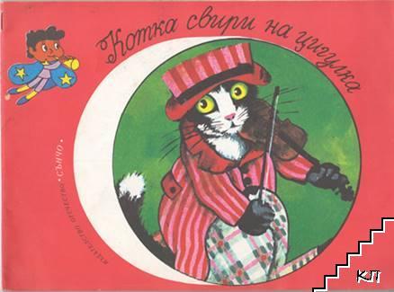 Котка свири на цигулка